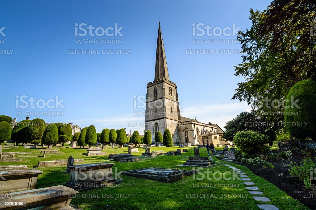 Church in Painswick stock photo