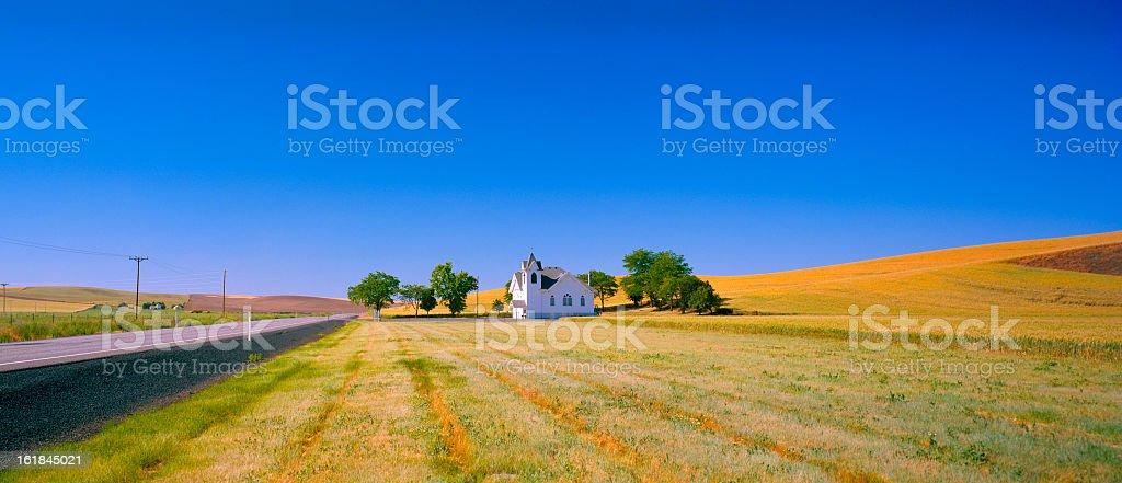 Church in Palouse Country, Eastern Washington royalty-free stock photo
