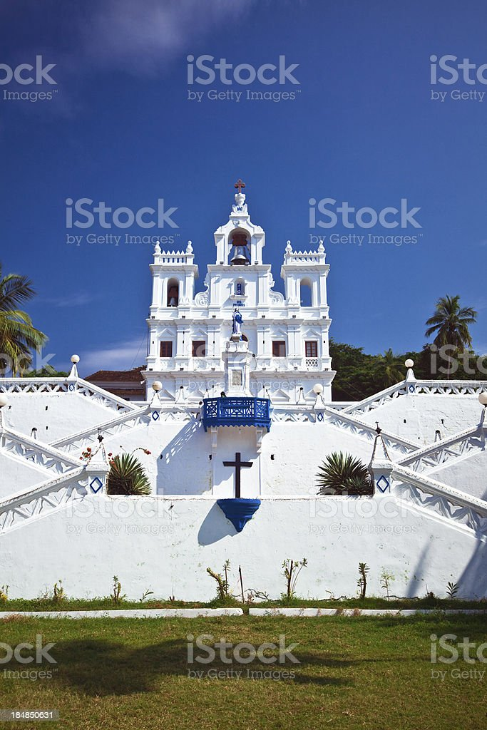 Church in Panjim The Panjim Church of Our Lady of the Immaculate Conception, Old Goa, India Ancient Stock Photo