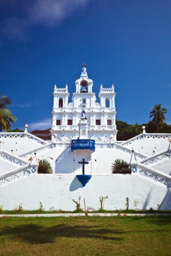 Church In Panjim Stock Photo - Download Image Now