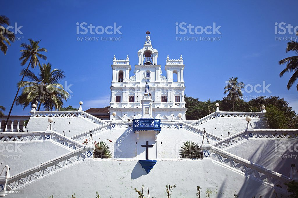 Church in Panjim stock photo