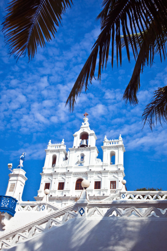 Church In Panjim Stock Photo - Download Image Now