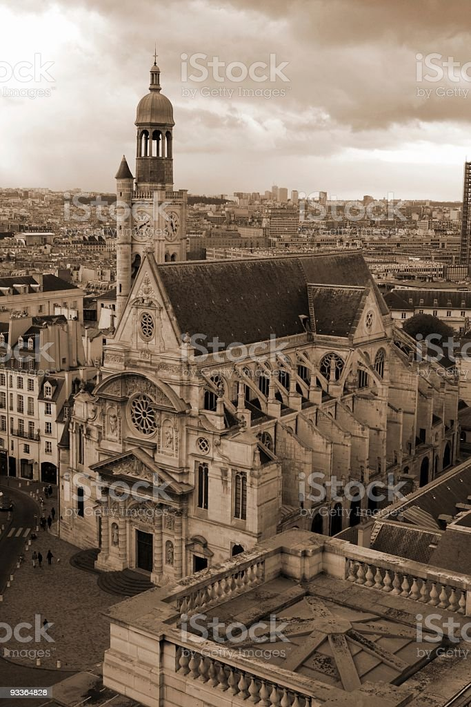 Church in Paris stock photo