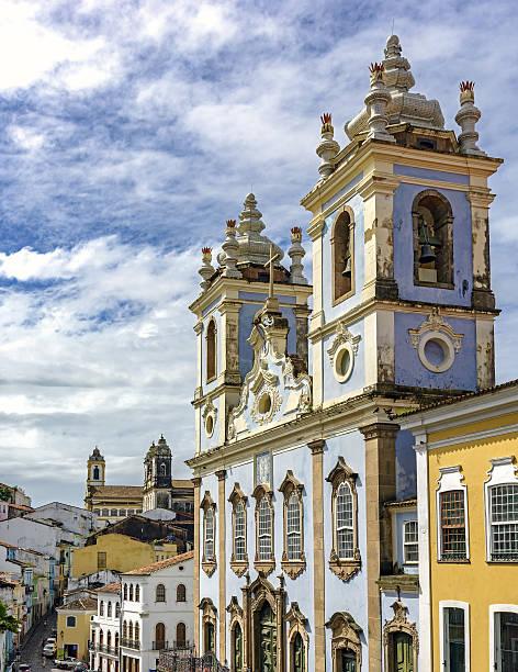 Church in  Pelorinho, Salvador stock photo