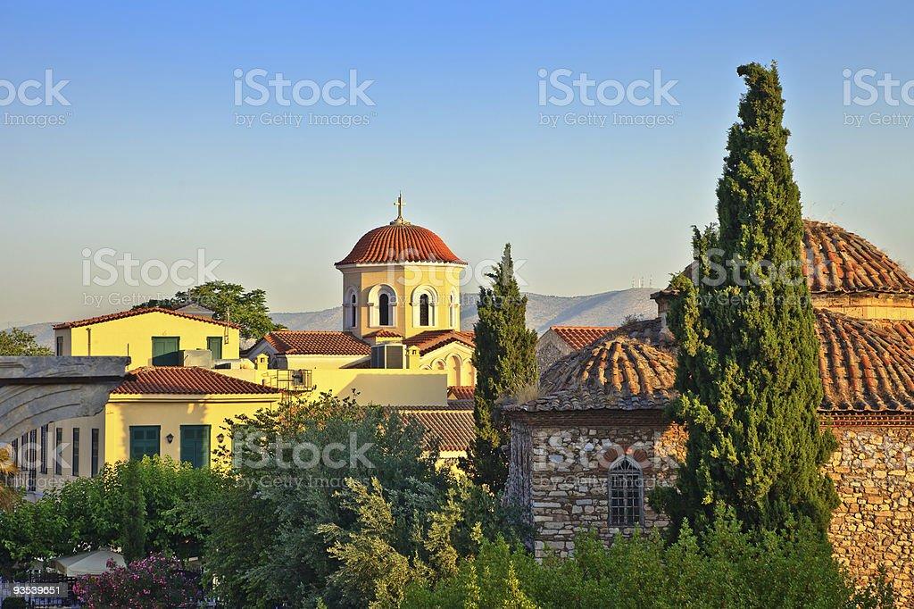 Church in Plaka, Athens stock photo