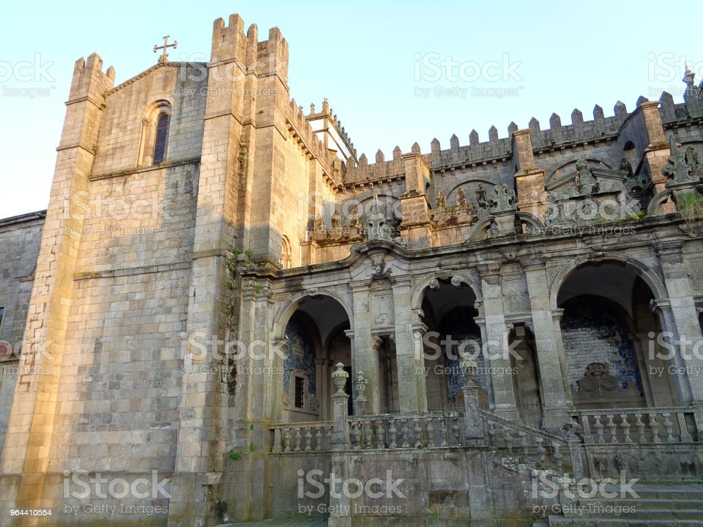 Kerk in Porto Portugal - Royalty-free Architectuur Stockfoto
