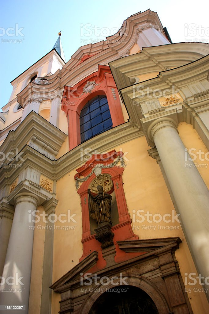 Church In Prague, Bottom Up View royalty-free stock photo