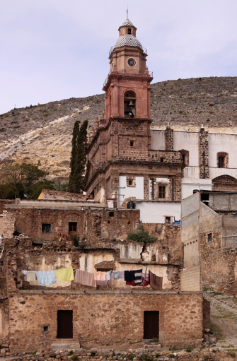 Church In Real De Catorce Stock Photo - Download Image Now