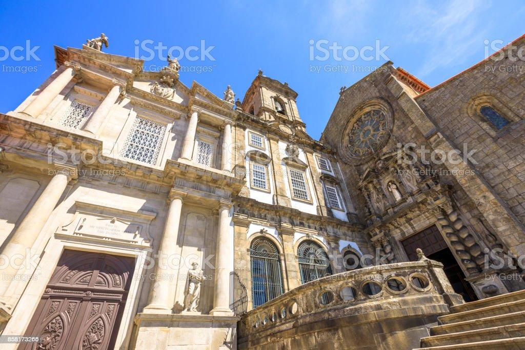 Church in Riberira Porto stock photo