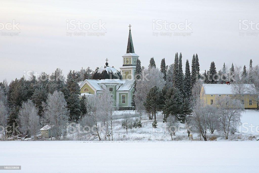 Church in Ruokolahti, Finland royalty-free stock photo