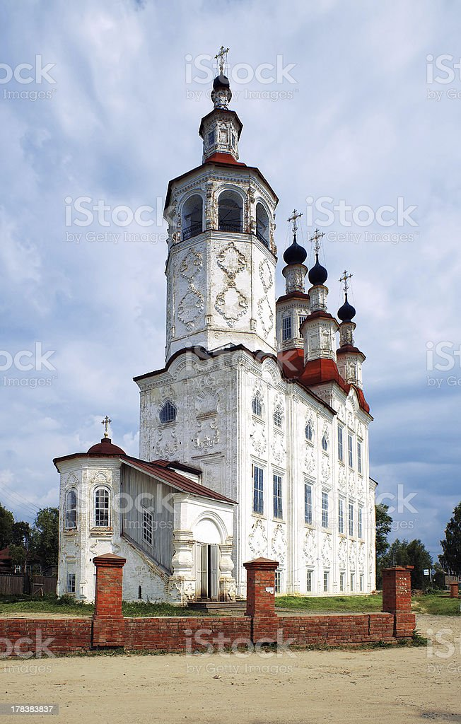 Church in Russian Baroque style, Totma royalty-free stock photo