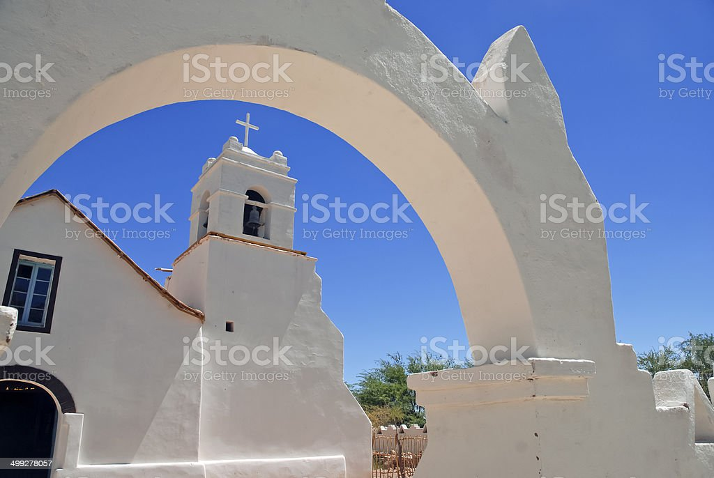 Church in San Pedro de Atacama, Chile stock photo