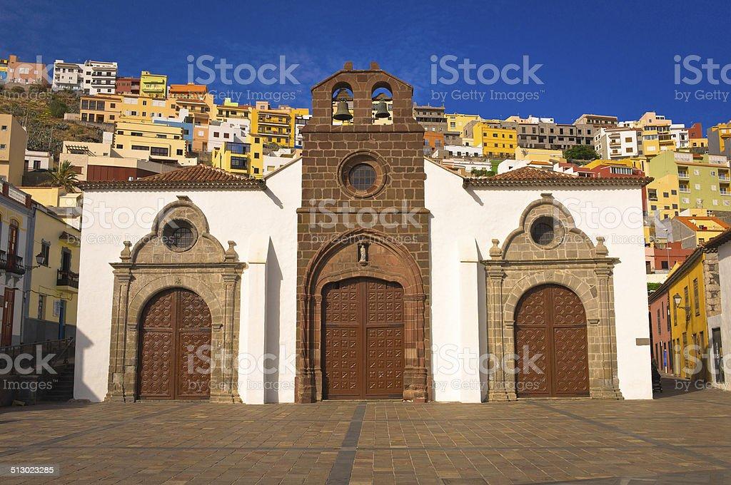Church in San Sebastian de La Gomera stock photo