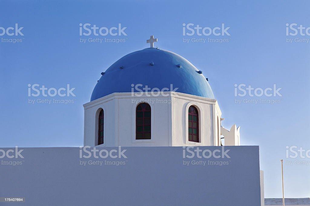 Church in Santorini royalty-free stock photo
