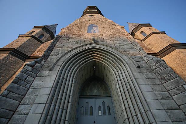 Church in Schenectady stock photo