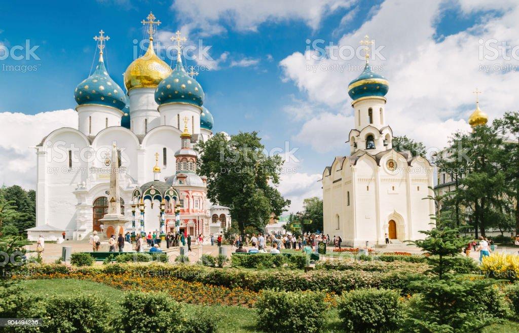 Church in Sergiyev posad monastery Russia stock photo
