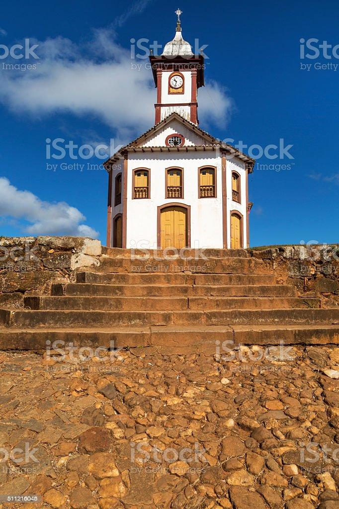 Church in Serro city, State of Minas Gerais, Brazil stock photo