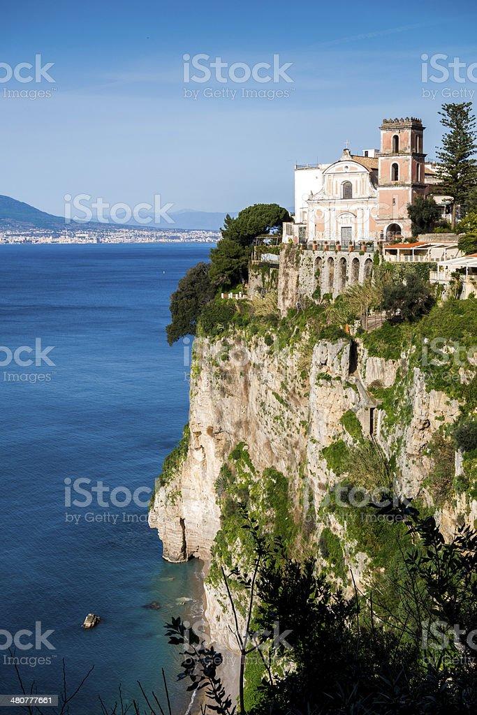 Church in Sorrento Coast stock photo