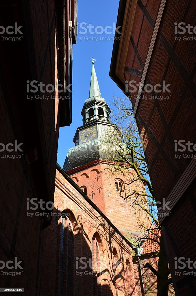 church in Stade, Germany royalty-free stock photo