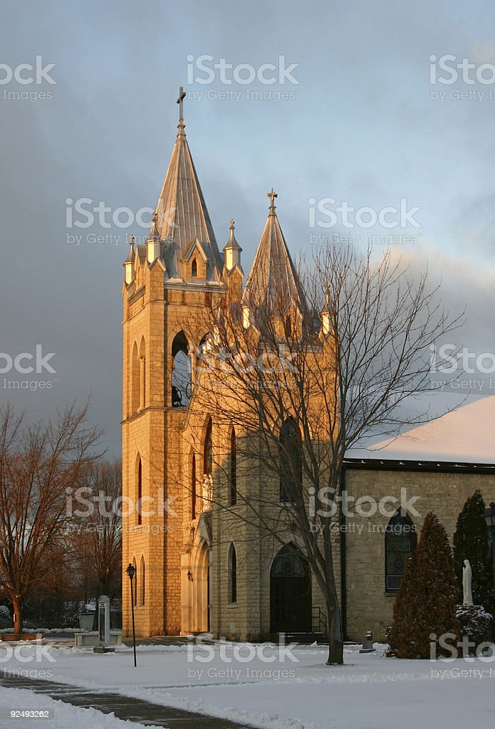 Church in sunlight. royalty-free stock photo