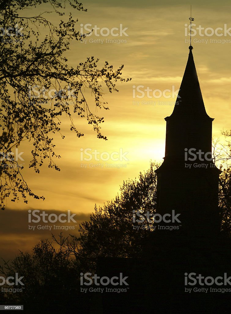 Church in Sunset royalty-free stock photo