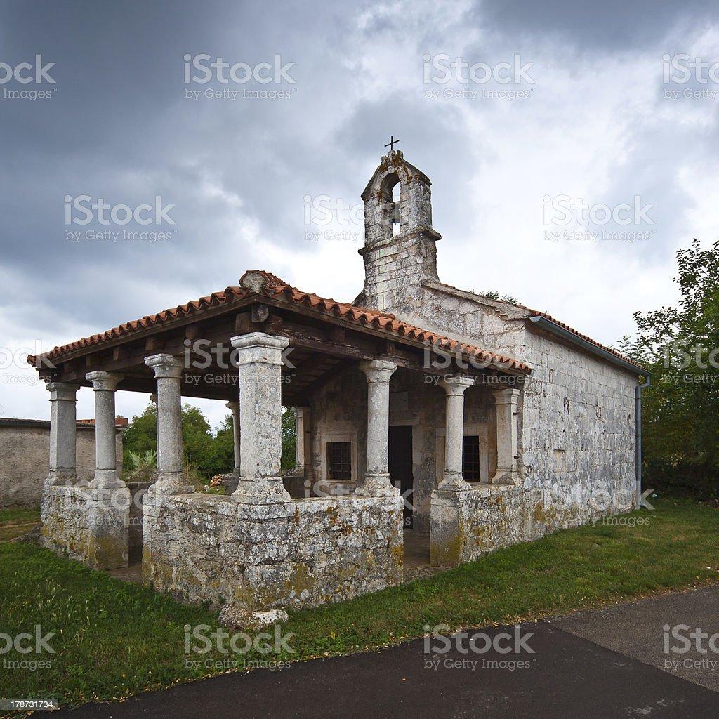 Church in Svetvincenat Croatia stock photo