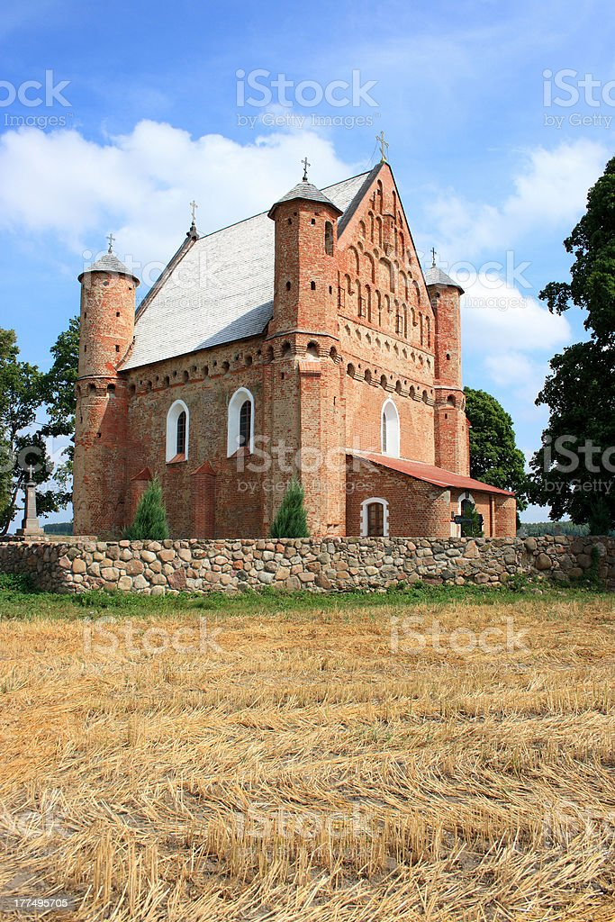 Church in Synkavičy, Belarus stock photo