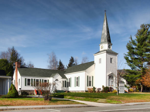church in the adirondacks - church stock photos and pictures