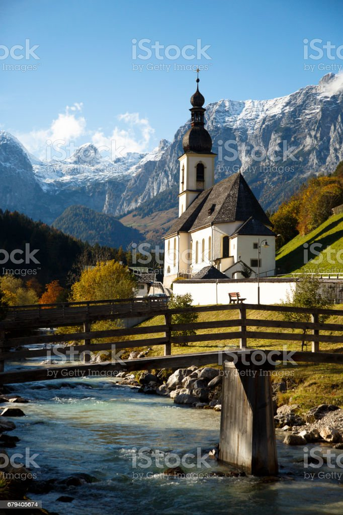 Church in the Alps royalty-free stock photo
