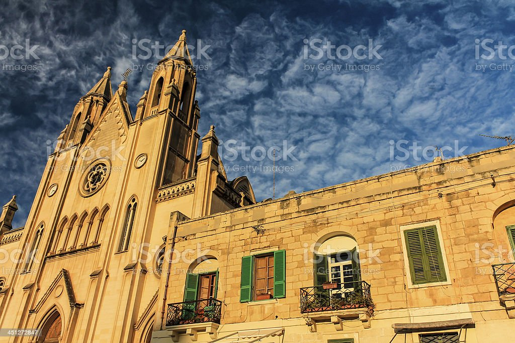 Church in the clouds royalty-free stock photo