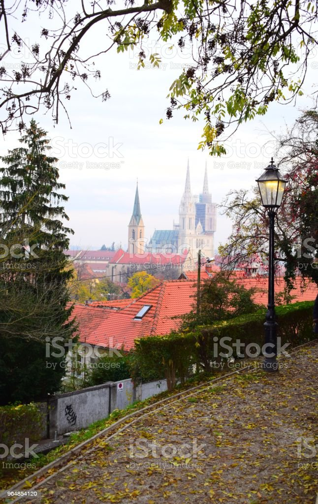 church in the distance royalty-free stock photo