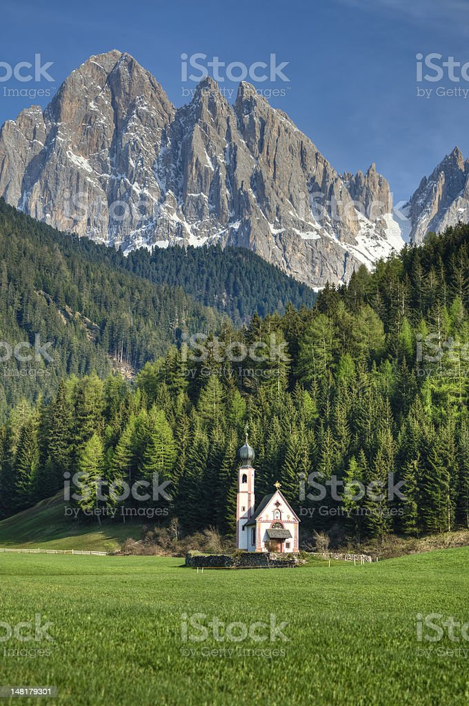 Church in the Italian Alps royalty-free stock photo