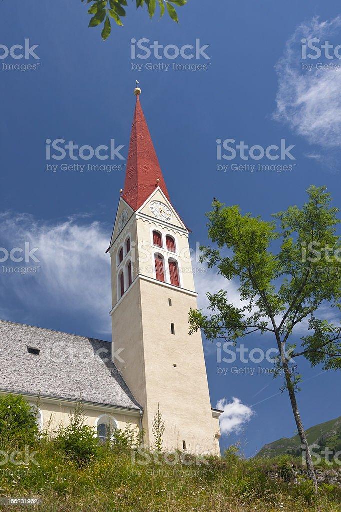 Church In The Lechtal Alps, Austria stock photo