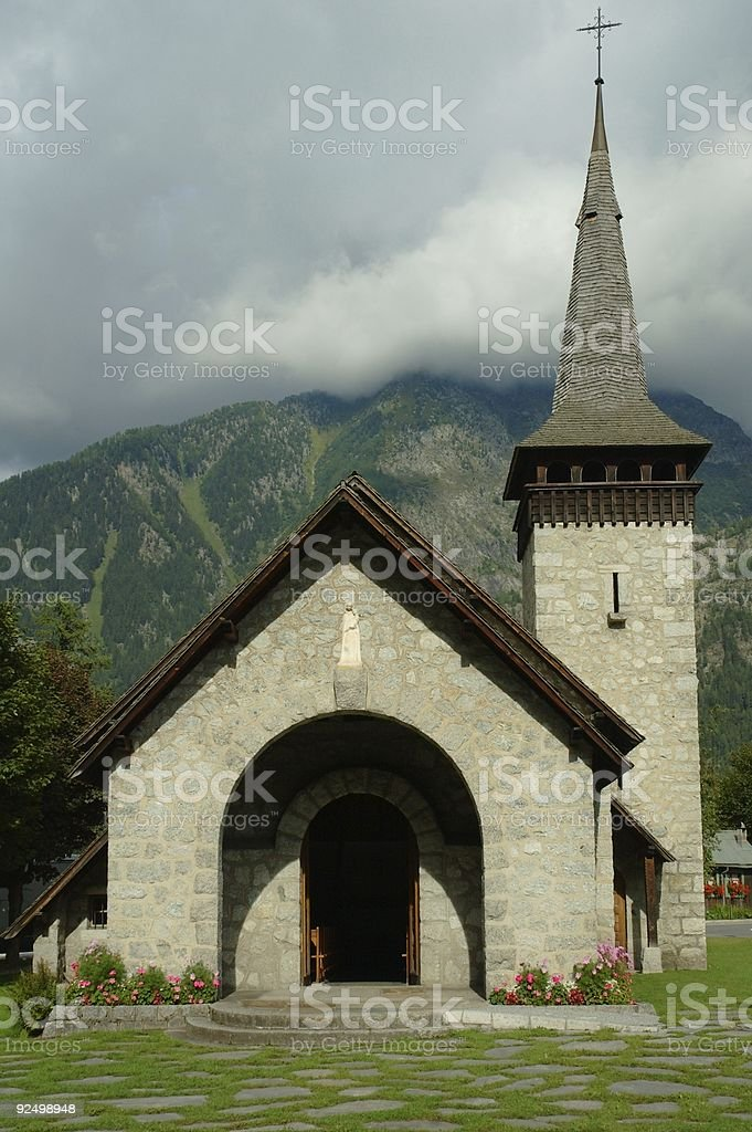 Church in the mountain royalty-free stock photo