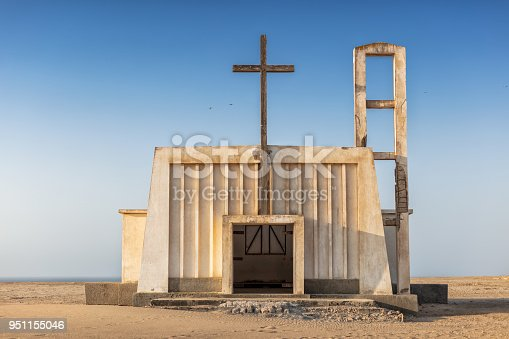 istock Church in the province of Namibe. Angola. Africa, Church of Portuguese colonial time. 951155046