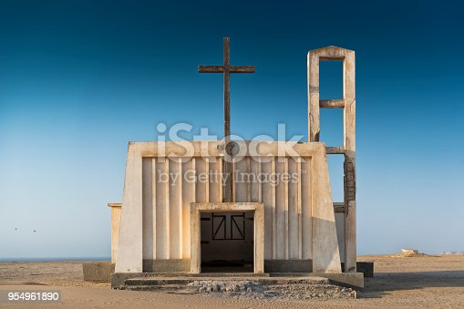 istock Church in the province of Namibe. Angola. Africa, Church of Portuguese colonial time. 954961890