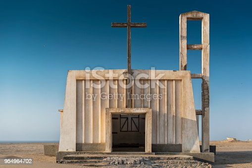 istock Church in the province of Namibe. Angola. Africa, Church of Portuguese colonial time. 954964702