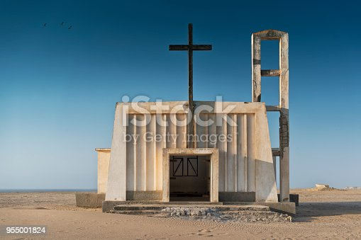 istock Church in the province of Namibe. Angola. Africa, Church of Portuguese colonial time. 955001824