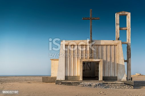 istock Church in the province of Namibe. Angola. Africa, Church of Portuguese colonial time. 955032192