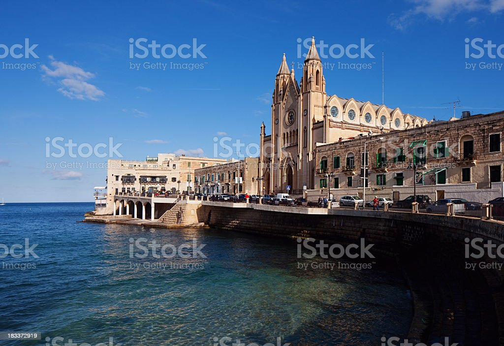 Church in the Sea stock photo