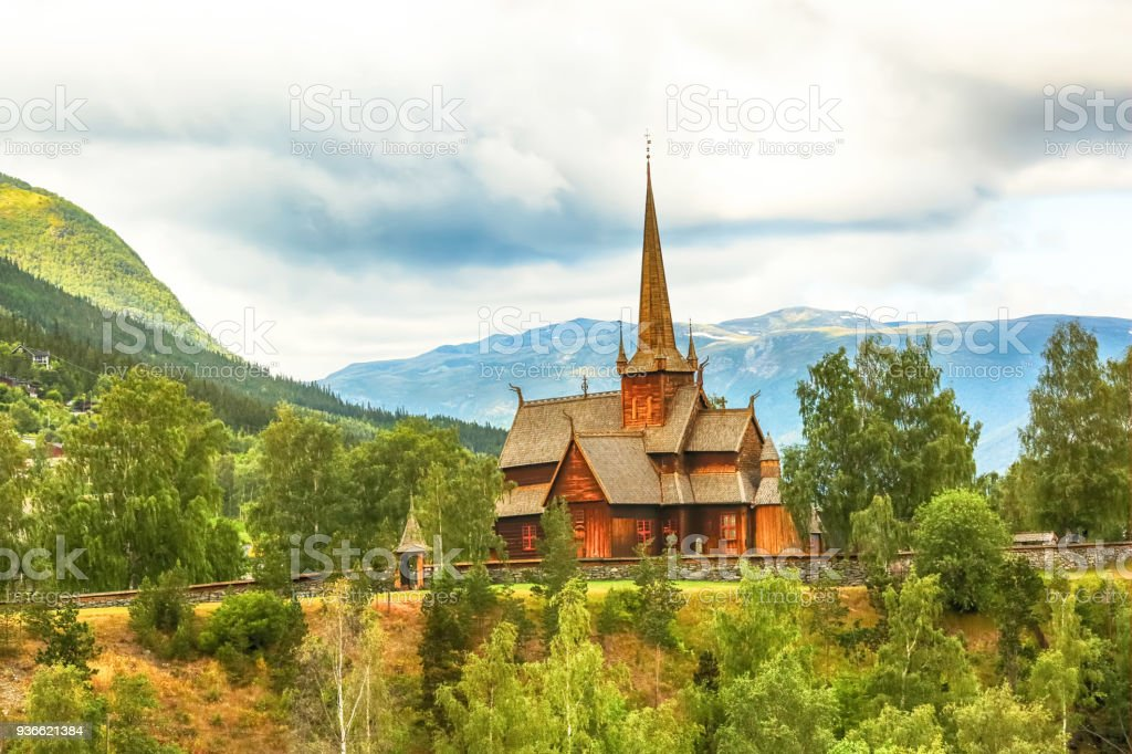 Church in the town Lom stock photo