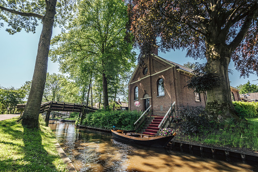 Church in the village of Giethoorn in The Netherlands.