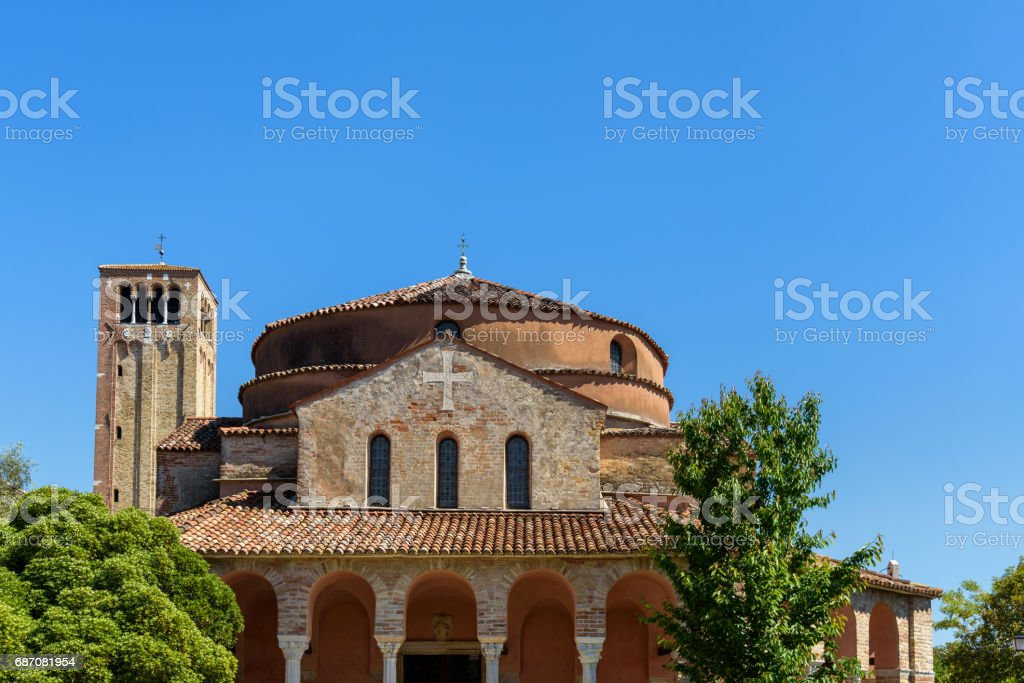 church in Torcello island, italy stock photo