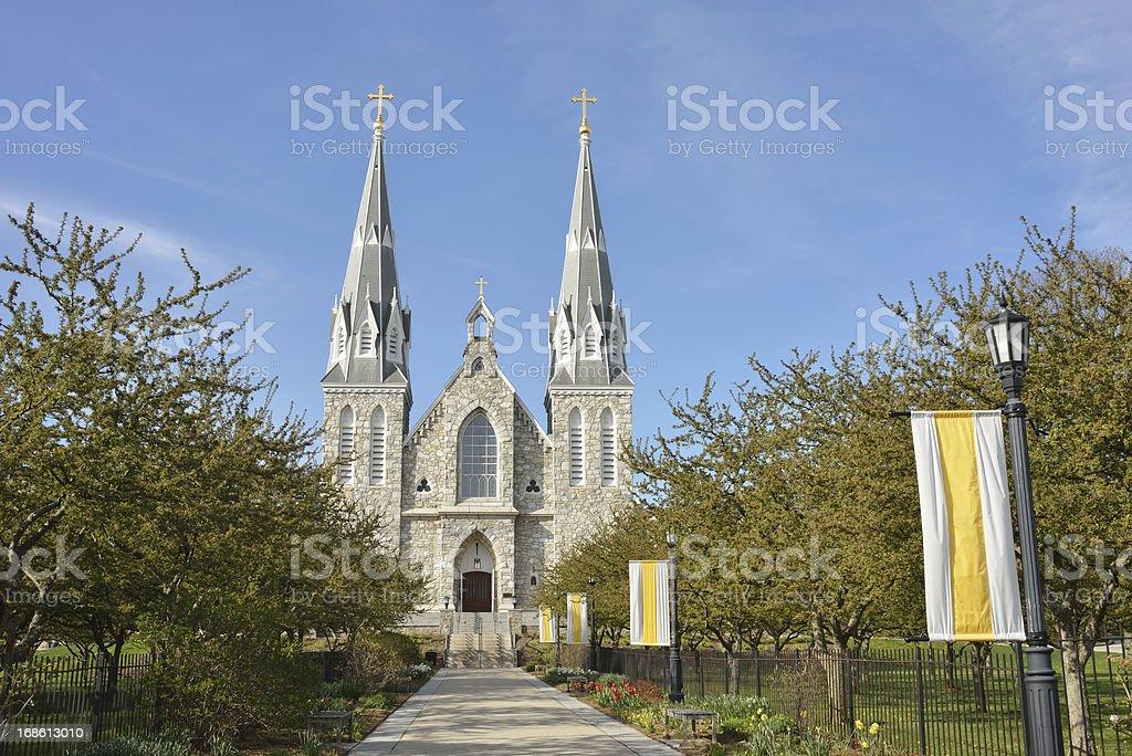 Church in Villanova University stock photo