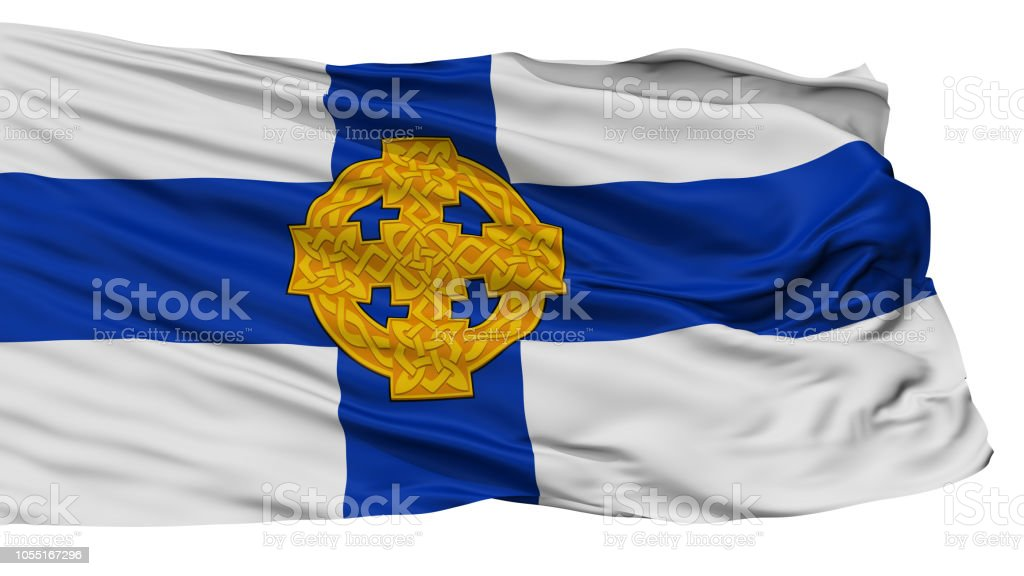 Church In Wales Flag, Isolated On White stock photo