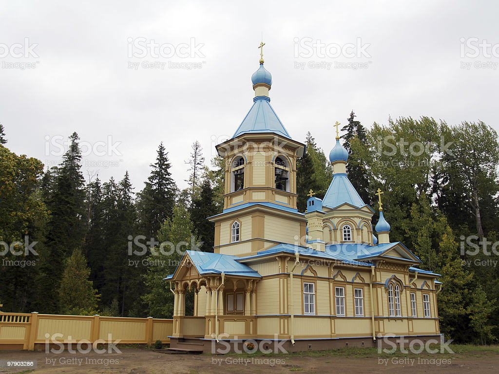 Church in wood royalty-free stock photo