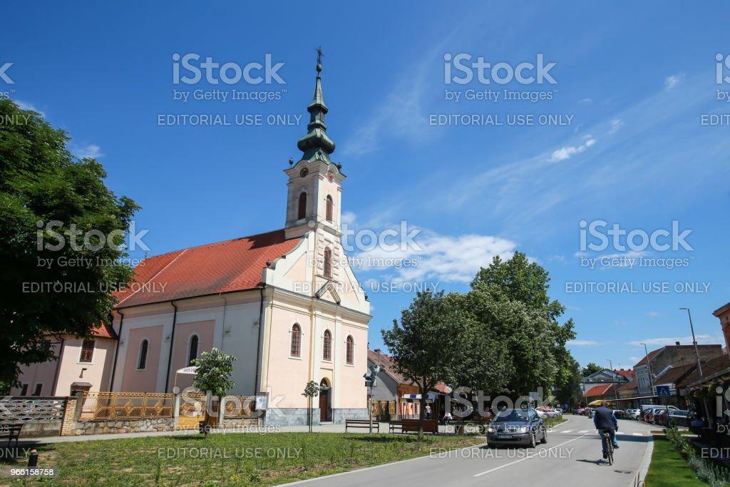 Kyrkan i Zupanja - Royaltyfri Arkitektur Bildbanksbilder