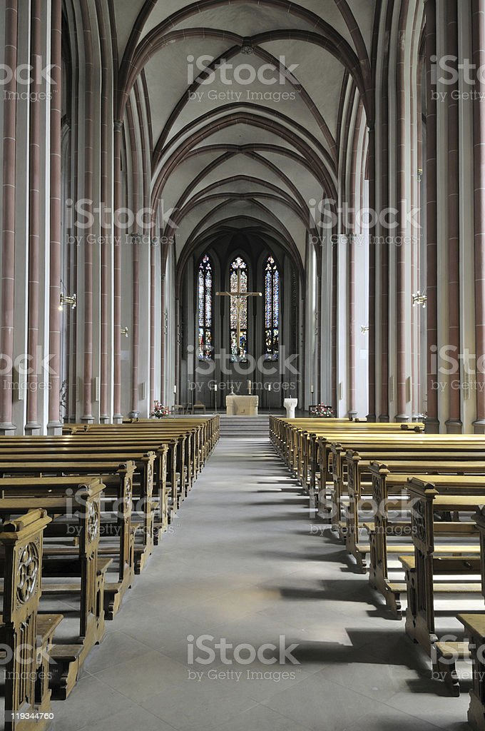 Church inside royalty-free stock photo