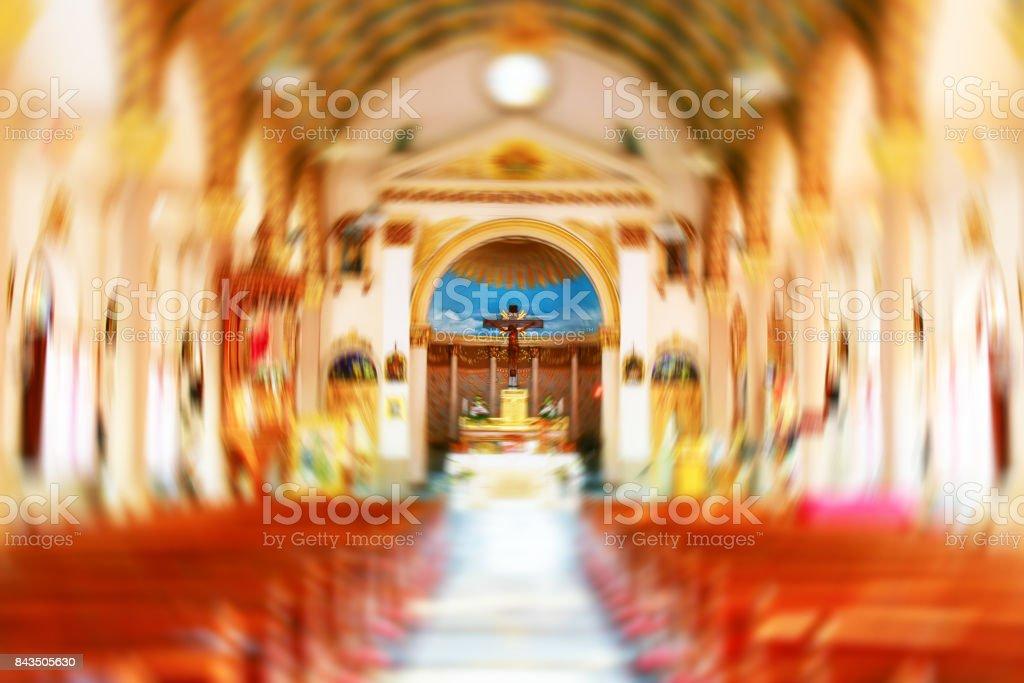 Church interior burst abstract background stock photo