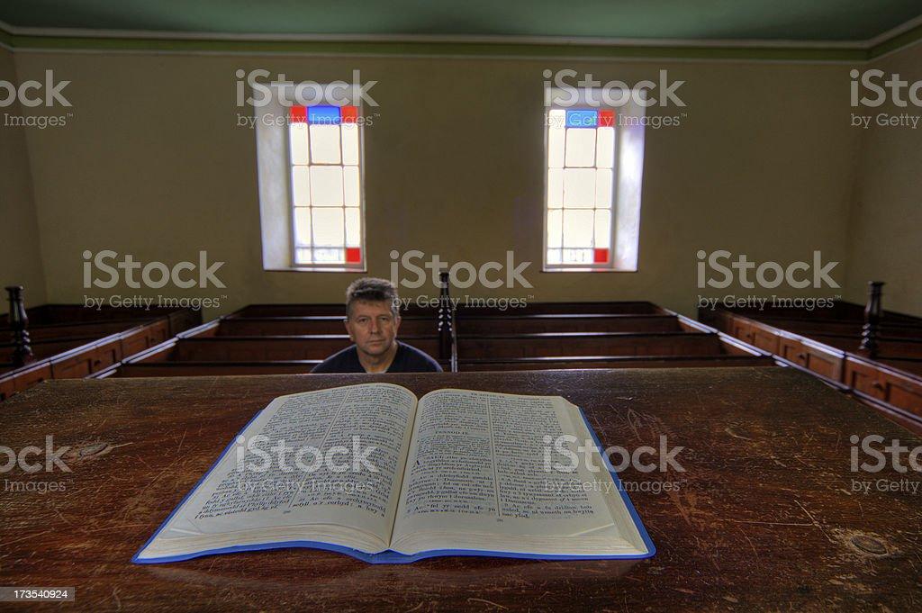 Church interior dwindling congregation royalty-free stock photo